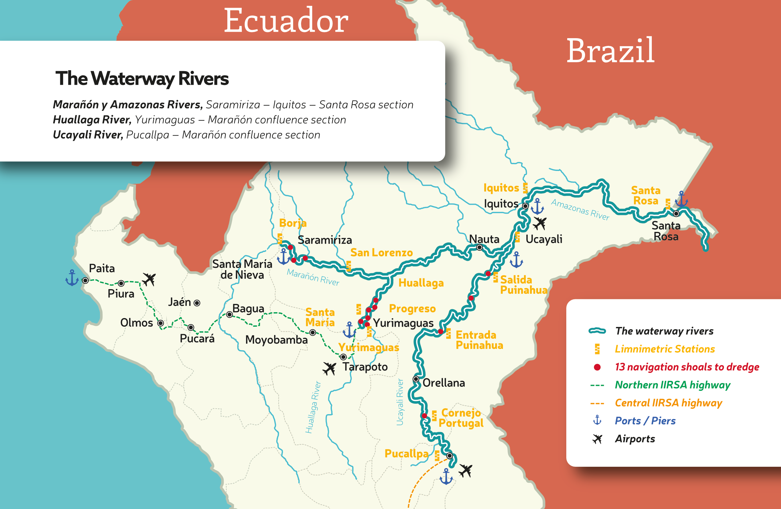 Amazon Waterway Peru map