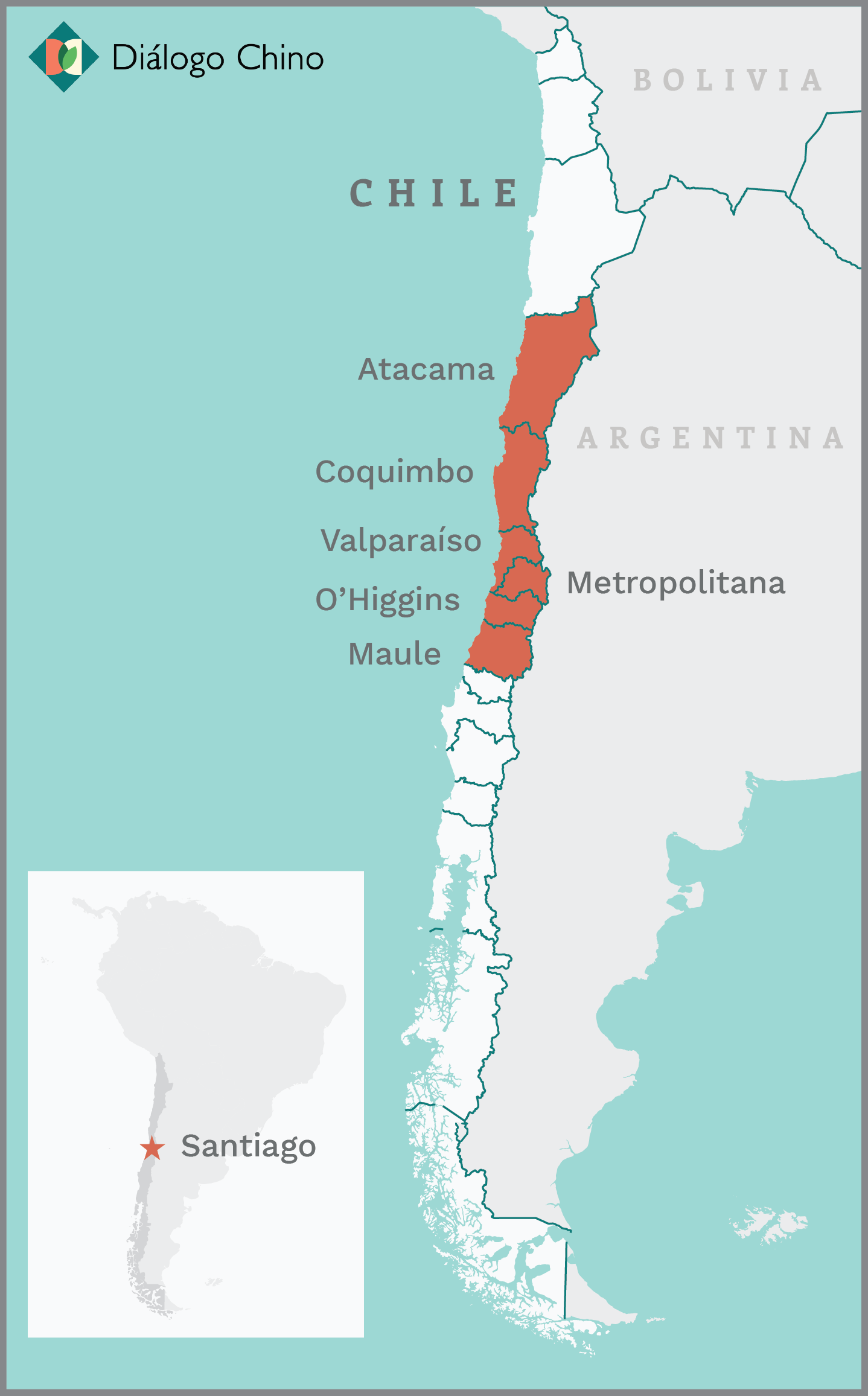 Chile drought map