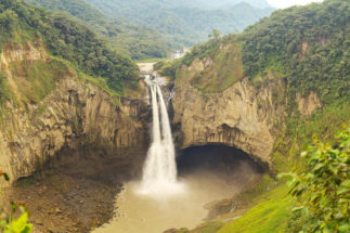the San Rafael waterfall in Ecuador