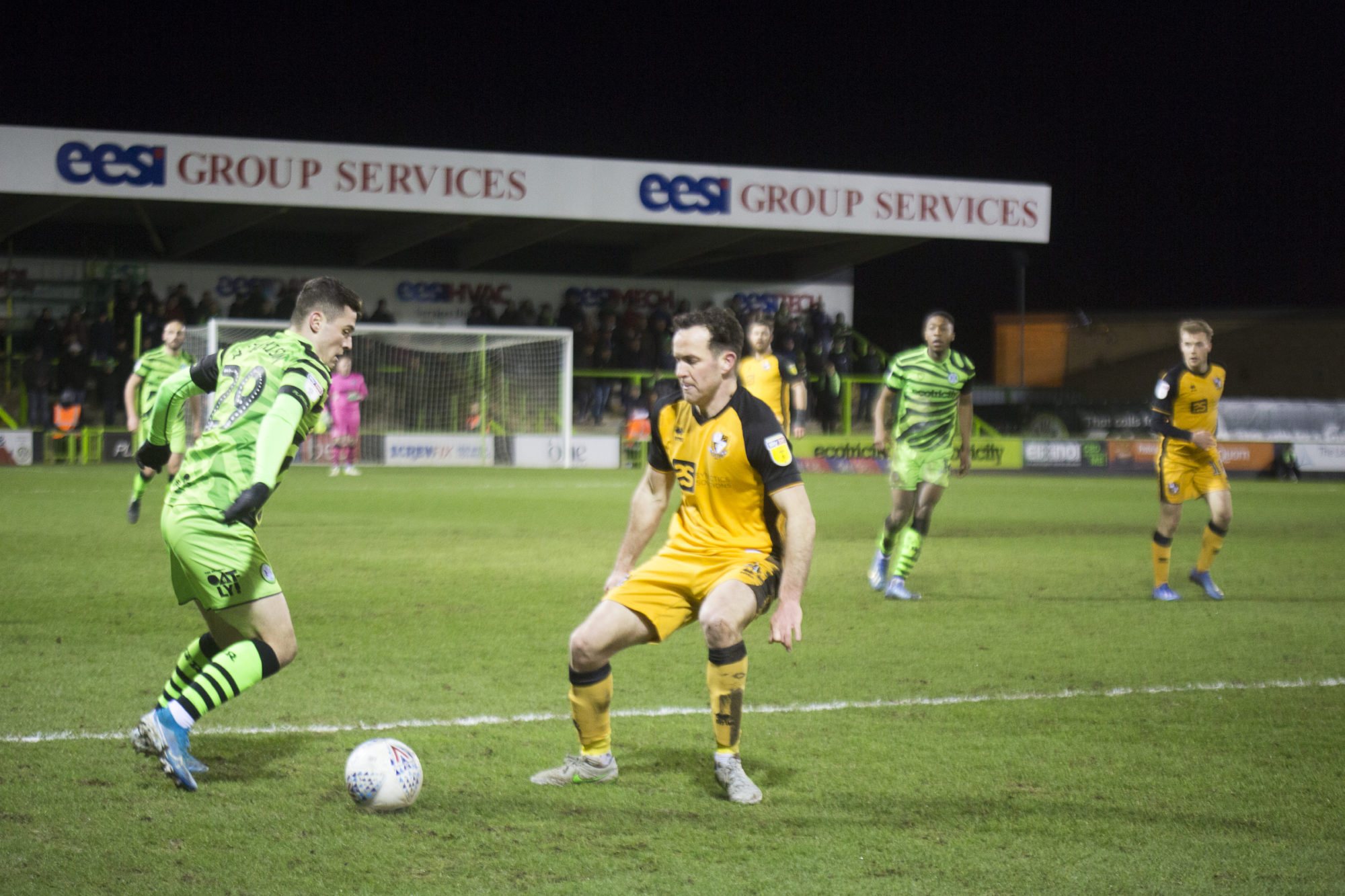 FGR's Jack Aitchison in action against Port Vale