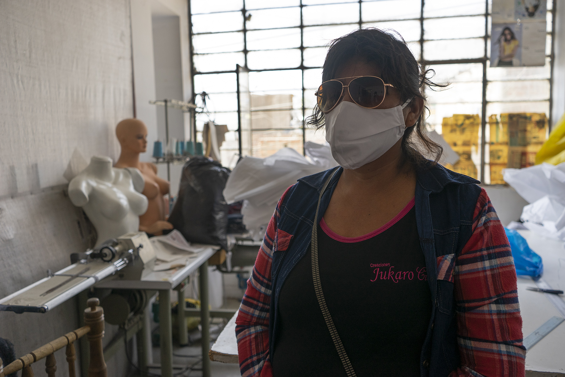 female worker in the textile sector in Lima, Peru
