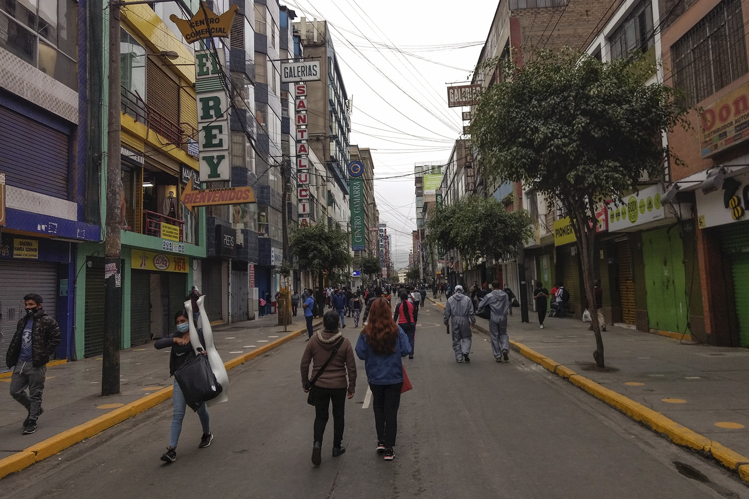 Gamarra, a mini-commercial city in Lima that houses the largest textile conglomerate in Peru