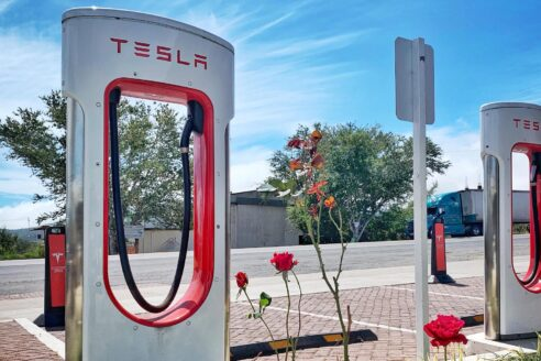 Tesla charging station Mexico recycle lithium batteries