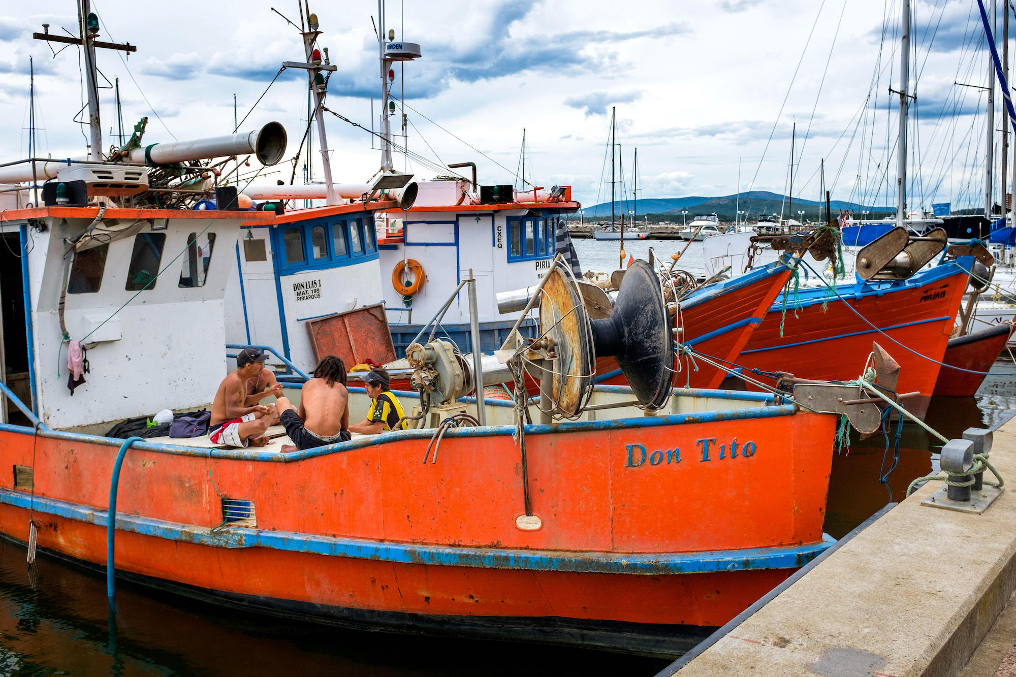 Uruguay, Piriapolis: Situated in the Maldonado Department, it?s one of the main seaside resorts in the country. Traditional fishing boats in the harbo