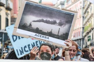 G20 climate energy protest Naples